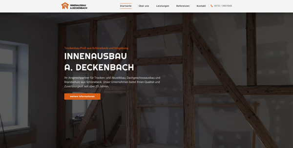 Innenausbau A. Deckenbach Website